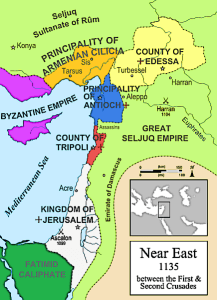 Map of 2nd Crusade