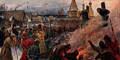 Witch Being Burned at the Stake