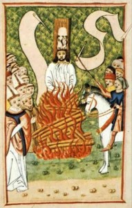 Jan Hus Burned Alive