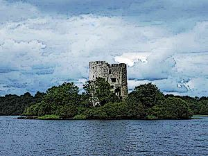 Cloughoughter Castle in Ireland
